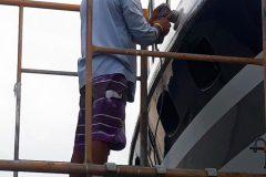 Boat Gelcoat and Fiberglass Repair 12